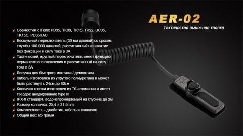 Выносная тактическая кнопка для фонарей Fenix (PD35